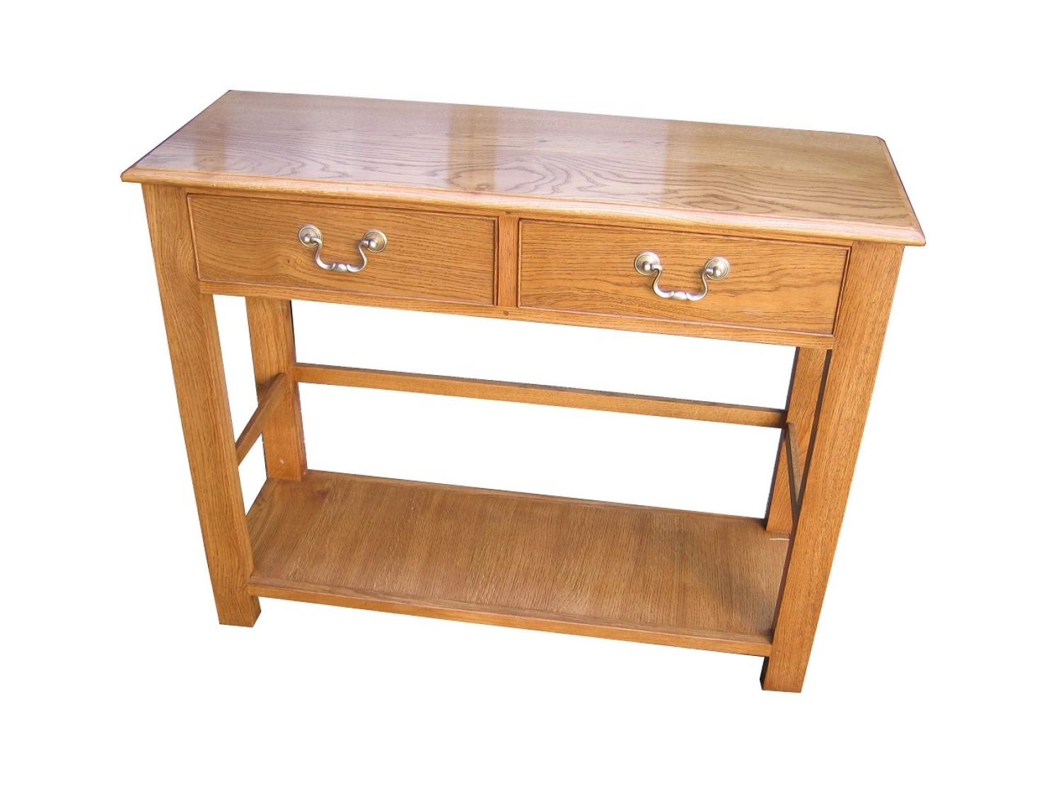Oak Two door side table
