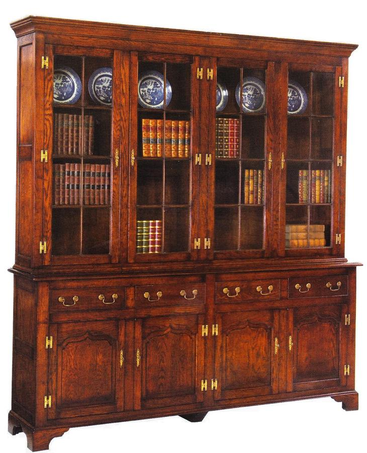 Oak Glazed Bookcase - Dundee