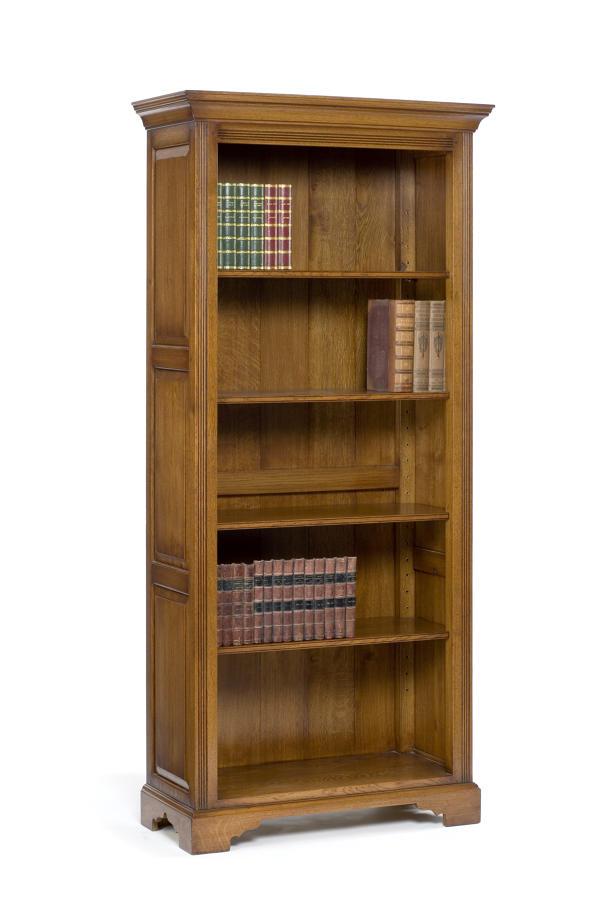 Tall Oak open bookcase