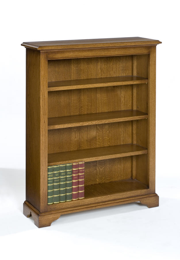 Low Oak Open Bookcase