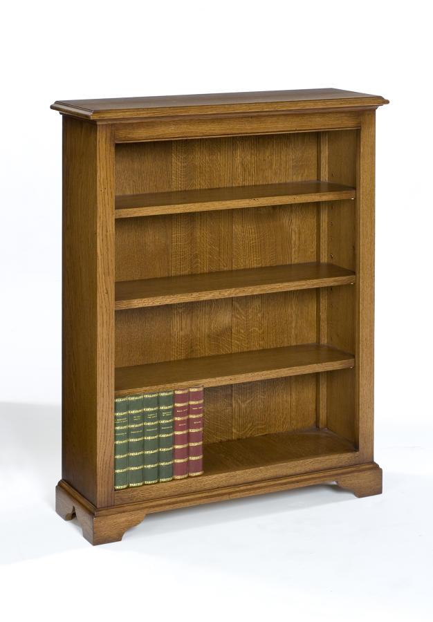 Low Oak Open Bookcase