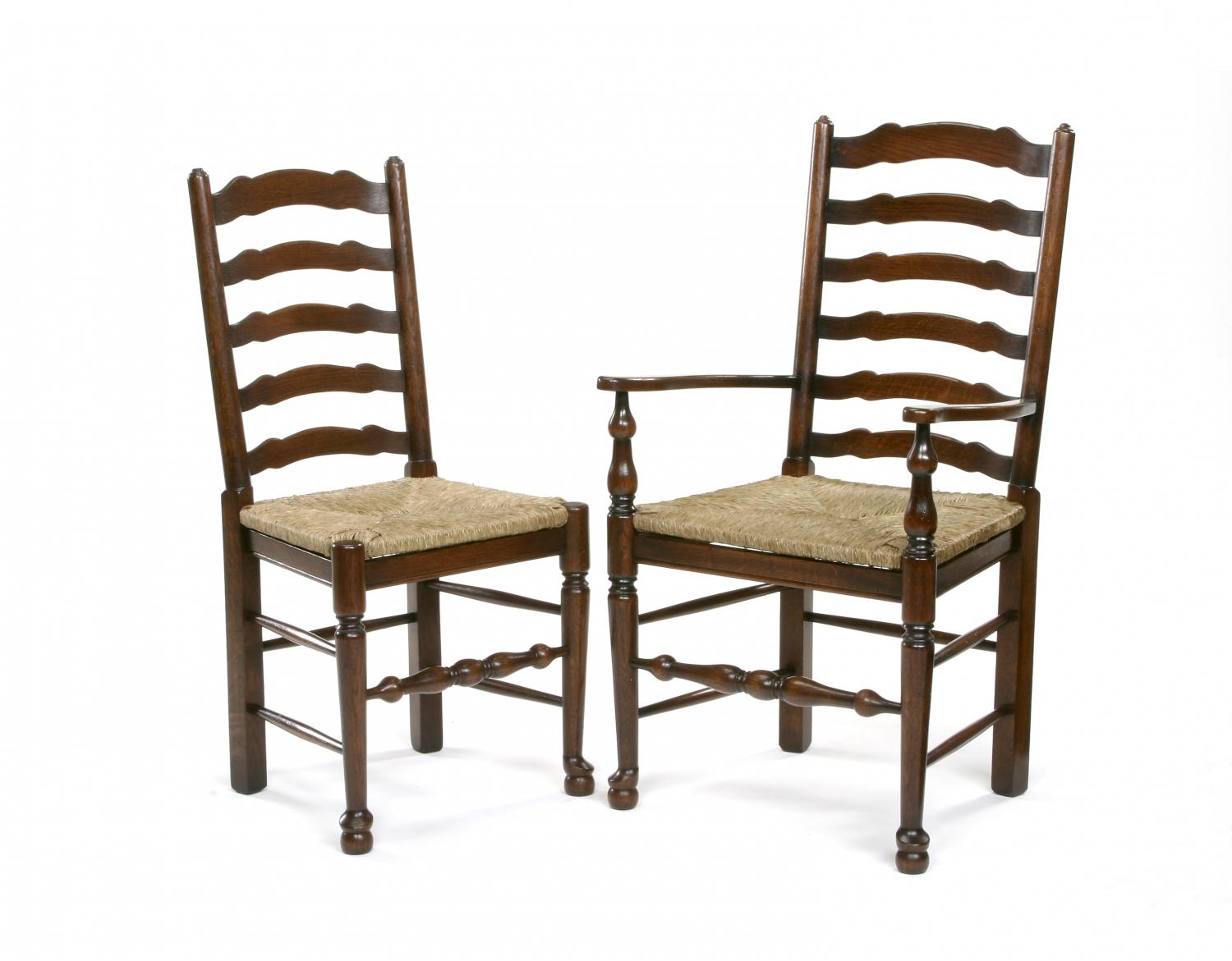Oak Ladder Back Dining Chairs In Oak Dining Chairs