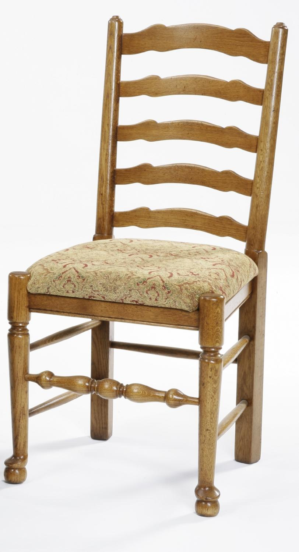 Oak Ladder Back Dining Chairs In Oak Furniture Surrey