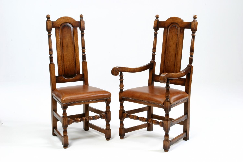 Oak Panel Back Chair