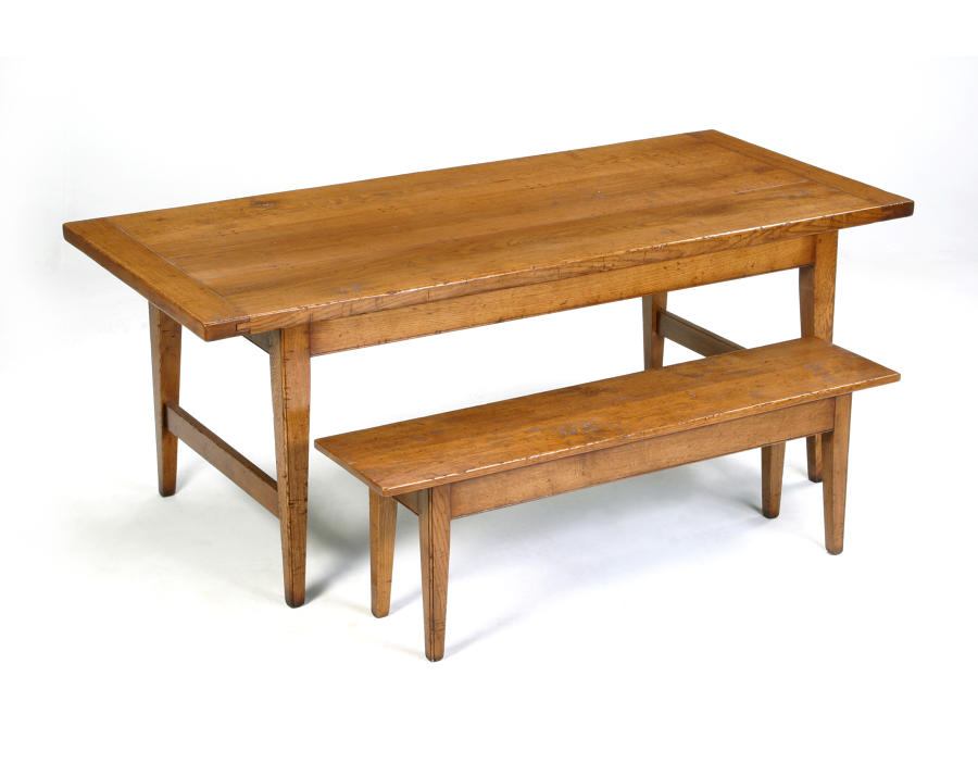Solid Oak Bench-Tapered Leg