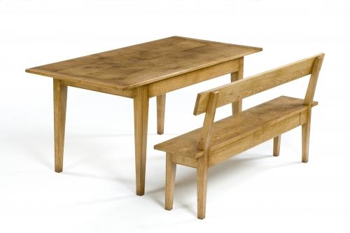 Oak Bench with Back rest