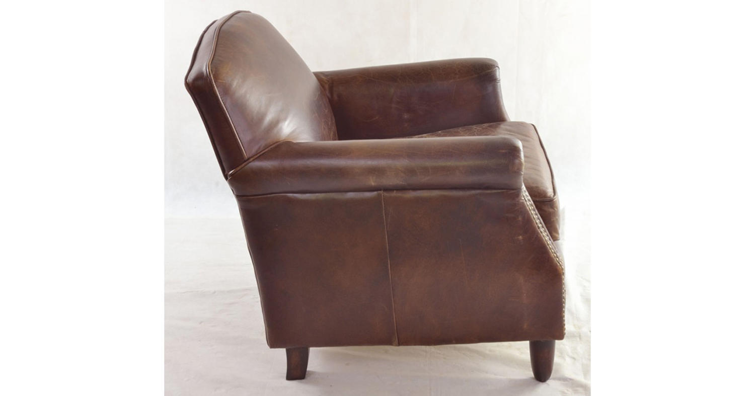 Studded front leather armchair in dorking surrey for Studded couch