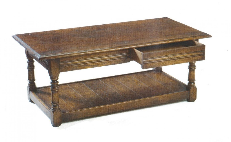 Oak Pot Board Coffee Table