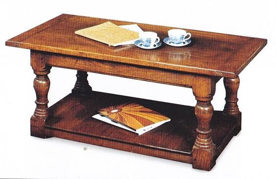 Oak Coffee Table - Pot Board