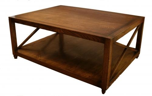 Oak x frame coffee table