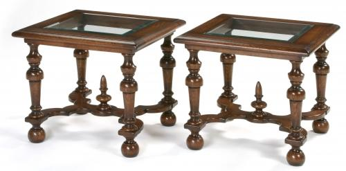 Oak William and Mary Lamp Tables