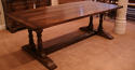 Twin Column Oak Refectory Dining Tables - picture 2