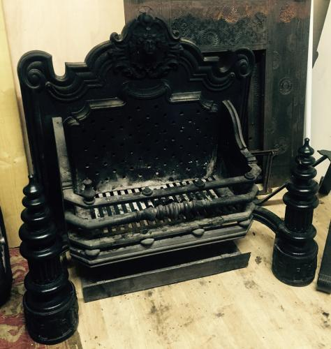 Victorian cast iron fire crate
