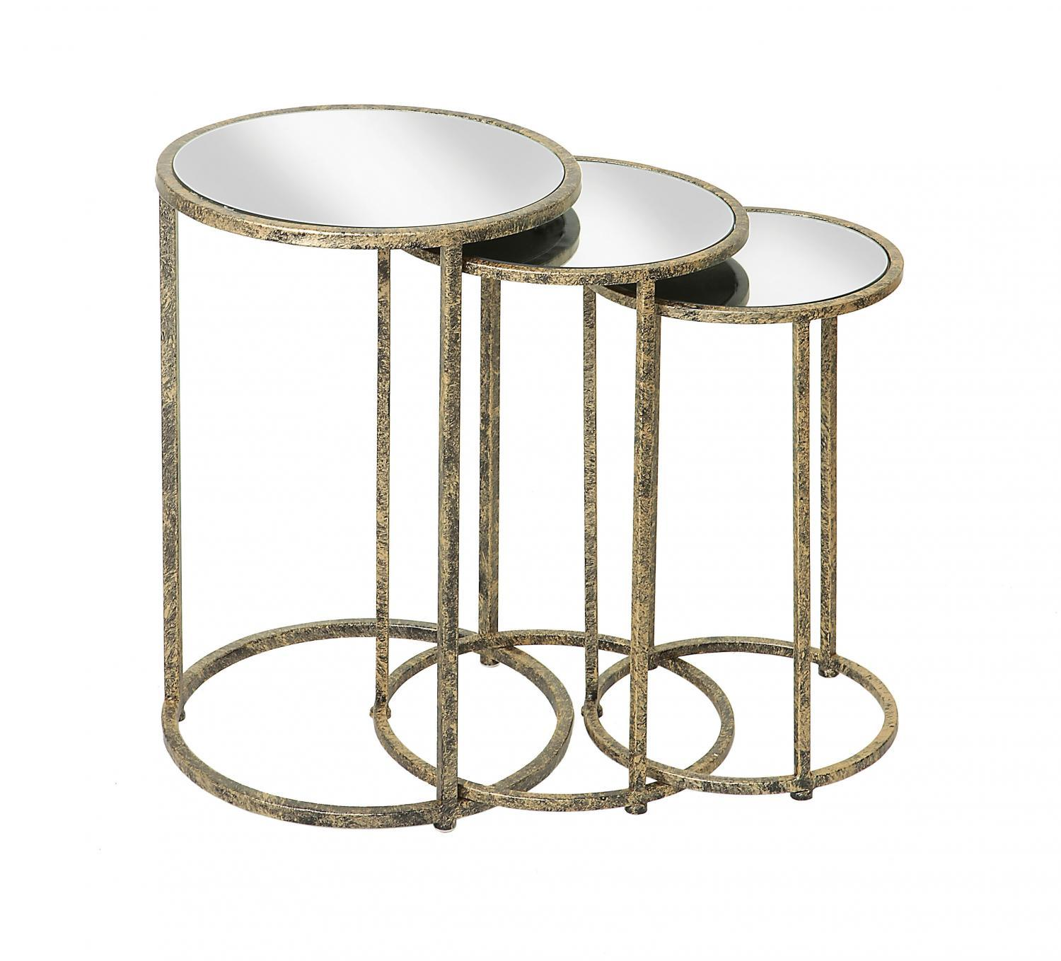 Mirror Top Nest of Tables