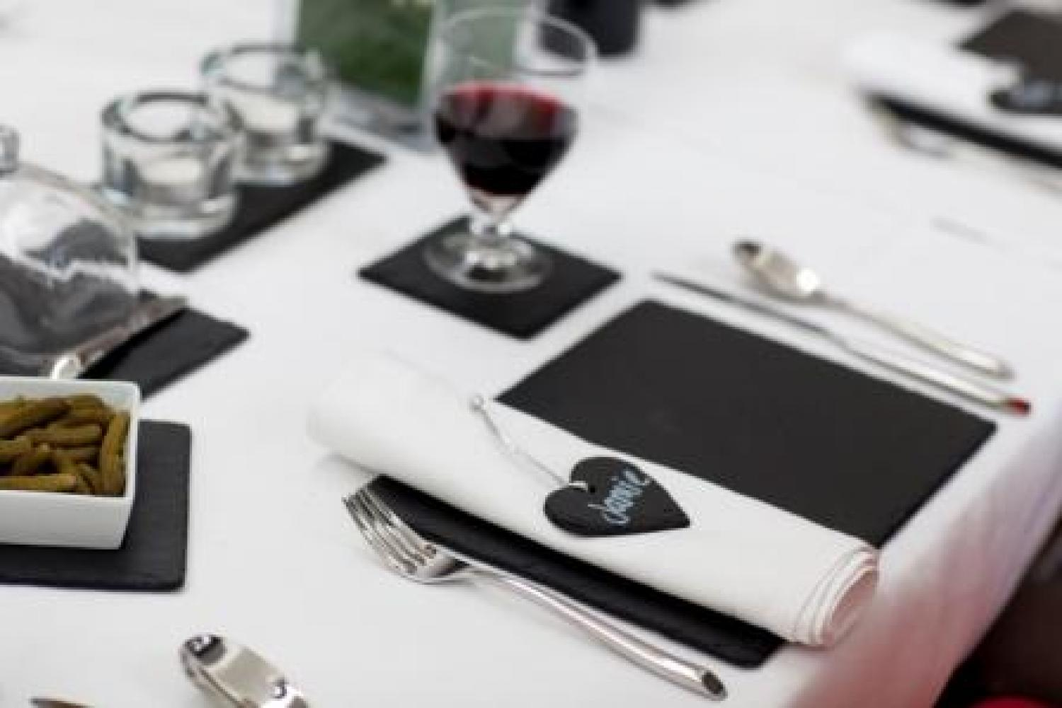 Rectangular slate place mats