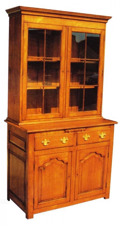 Two door Oak Glazed Bookcase
