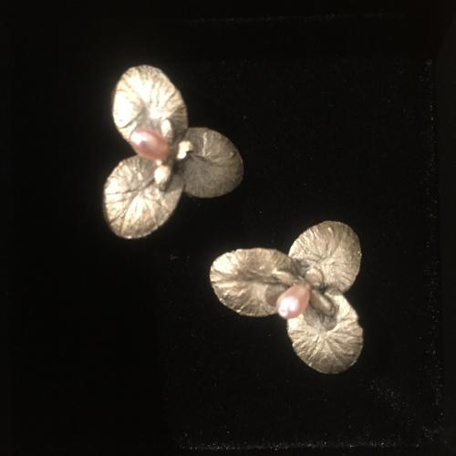Water Lilies Earrings - Michael Michaud