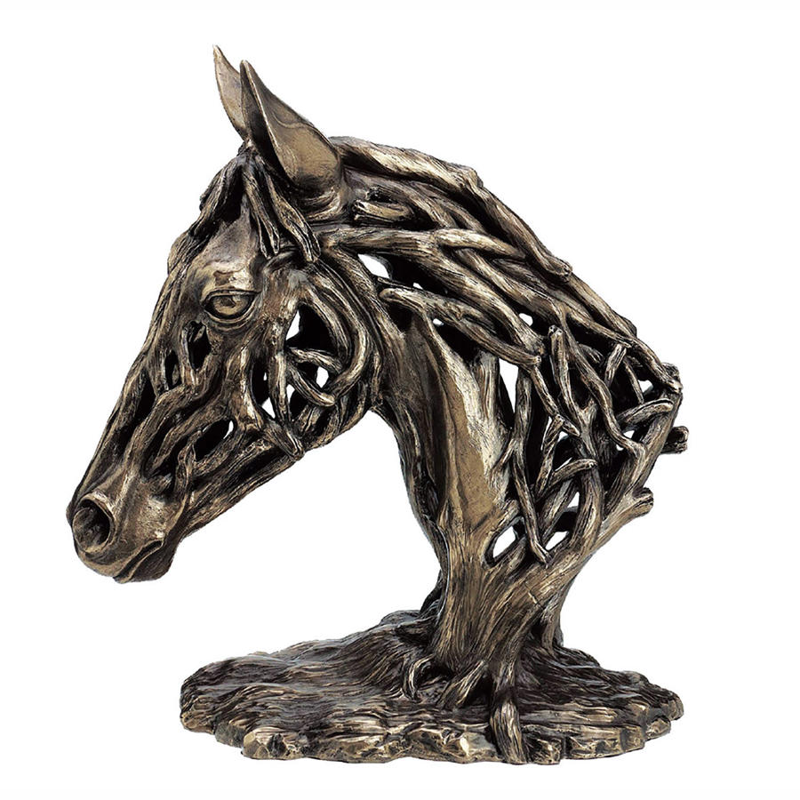 Horses Head cold cast bronze sculpture