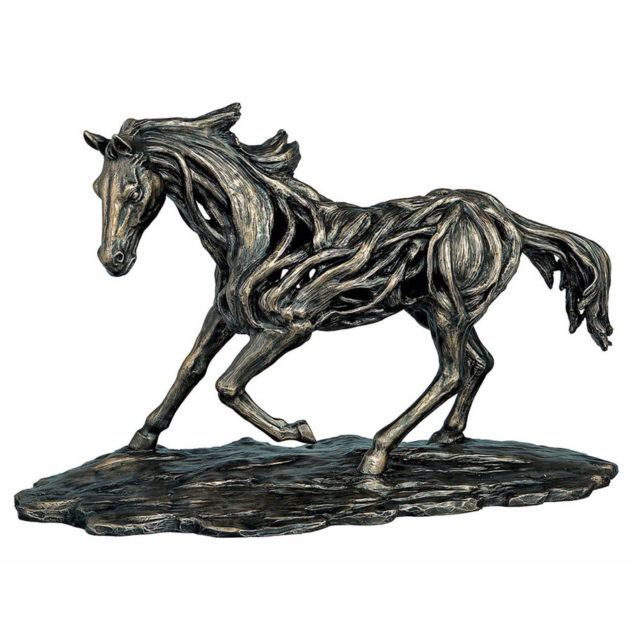 Running Horse cold cast bronze sculpture