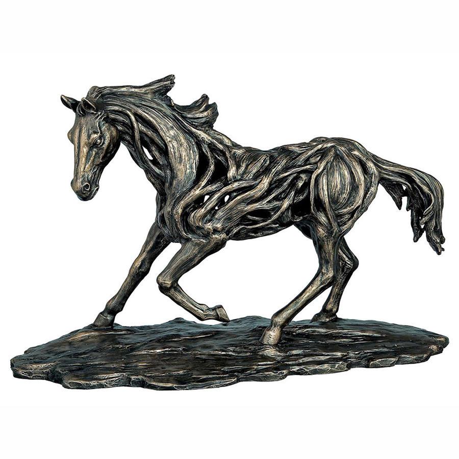 Running Horse cold cast bronze sculpture