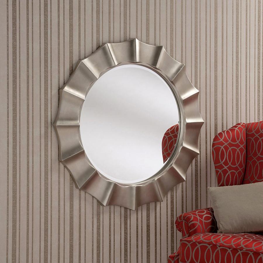 Silver Circle Wall Mirror