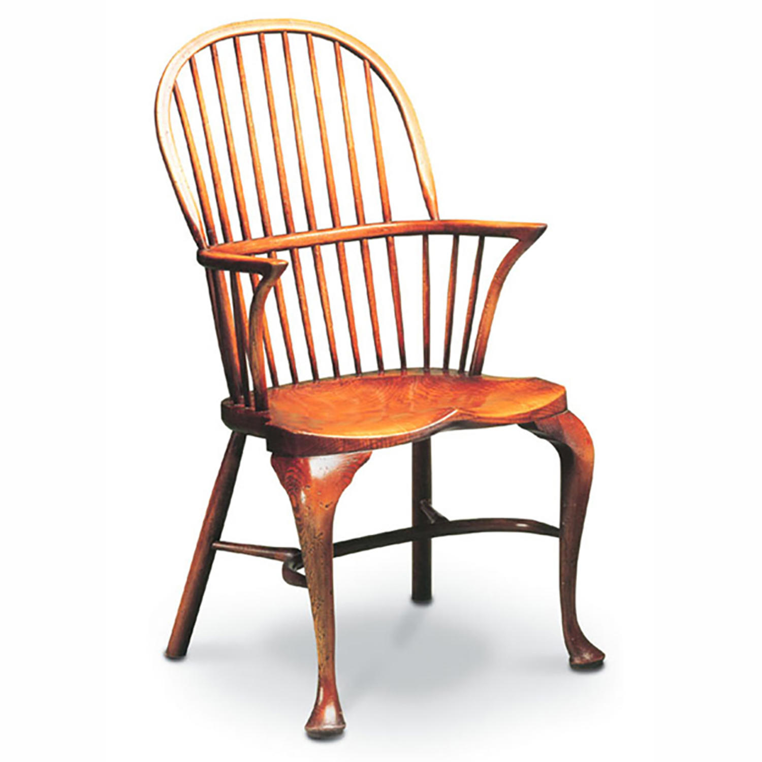 Cabriole leg stickback Double bow Armchair