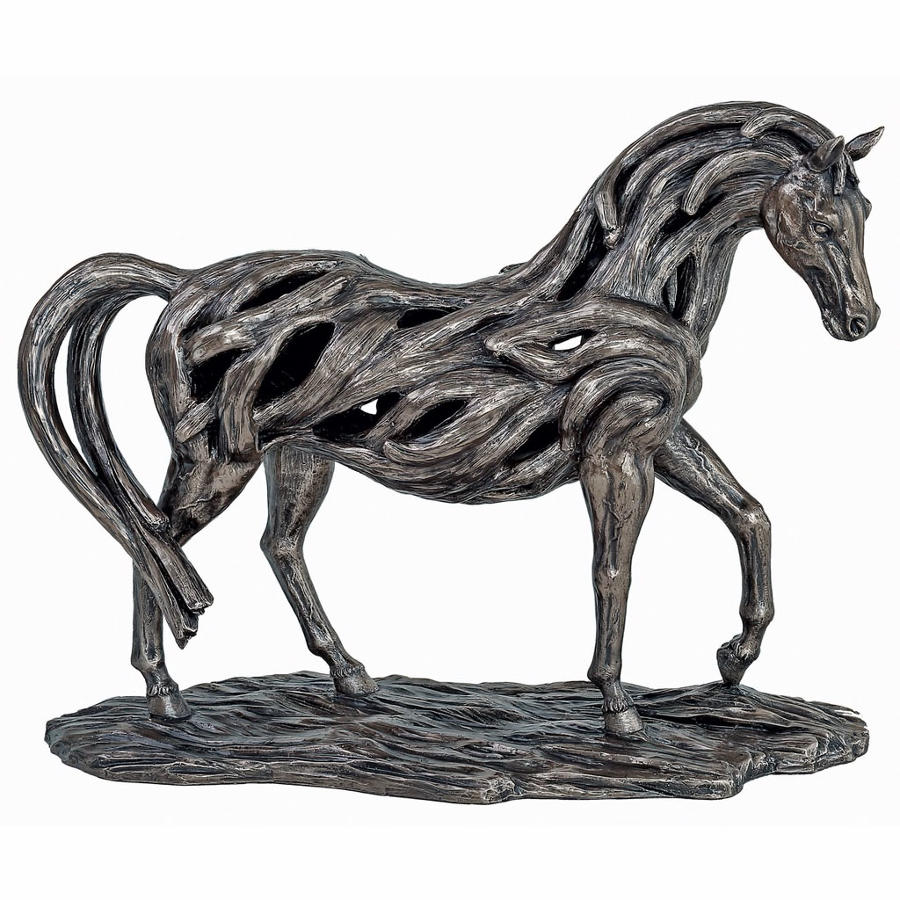 Trotting Horse cold cast bronze sculpture