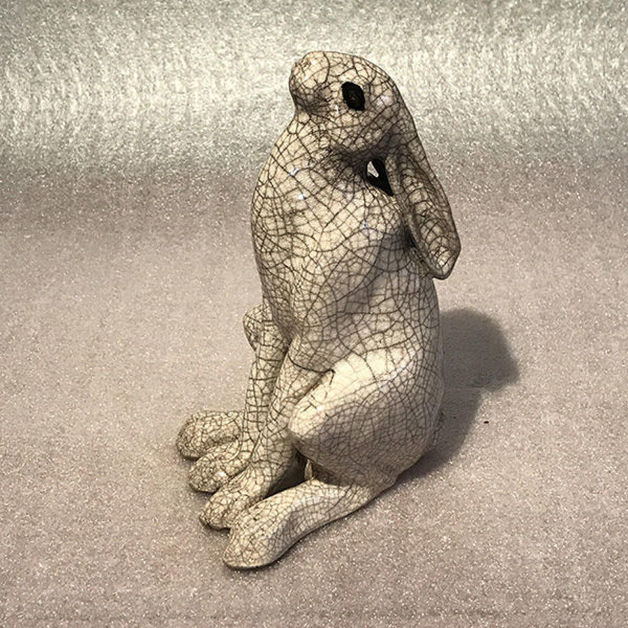 Medium 'Moon' Raku Hare Sculpture