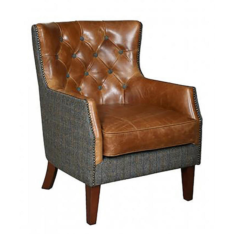 Stanford Armchair in Harris tweed