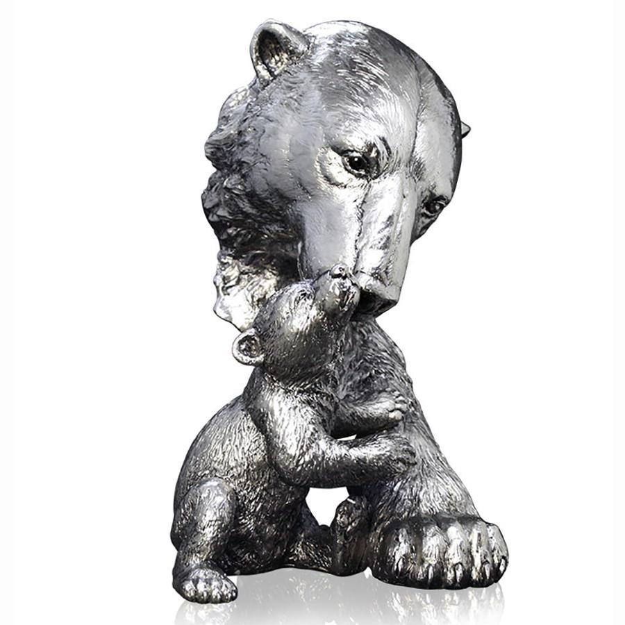 Nickel resin Polar Bear and cub
