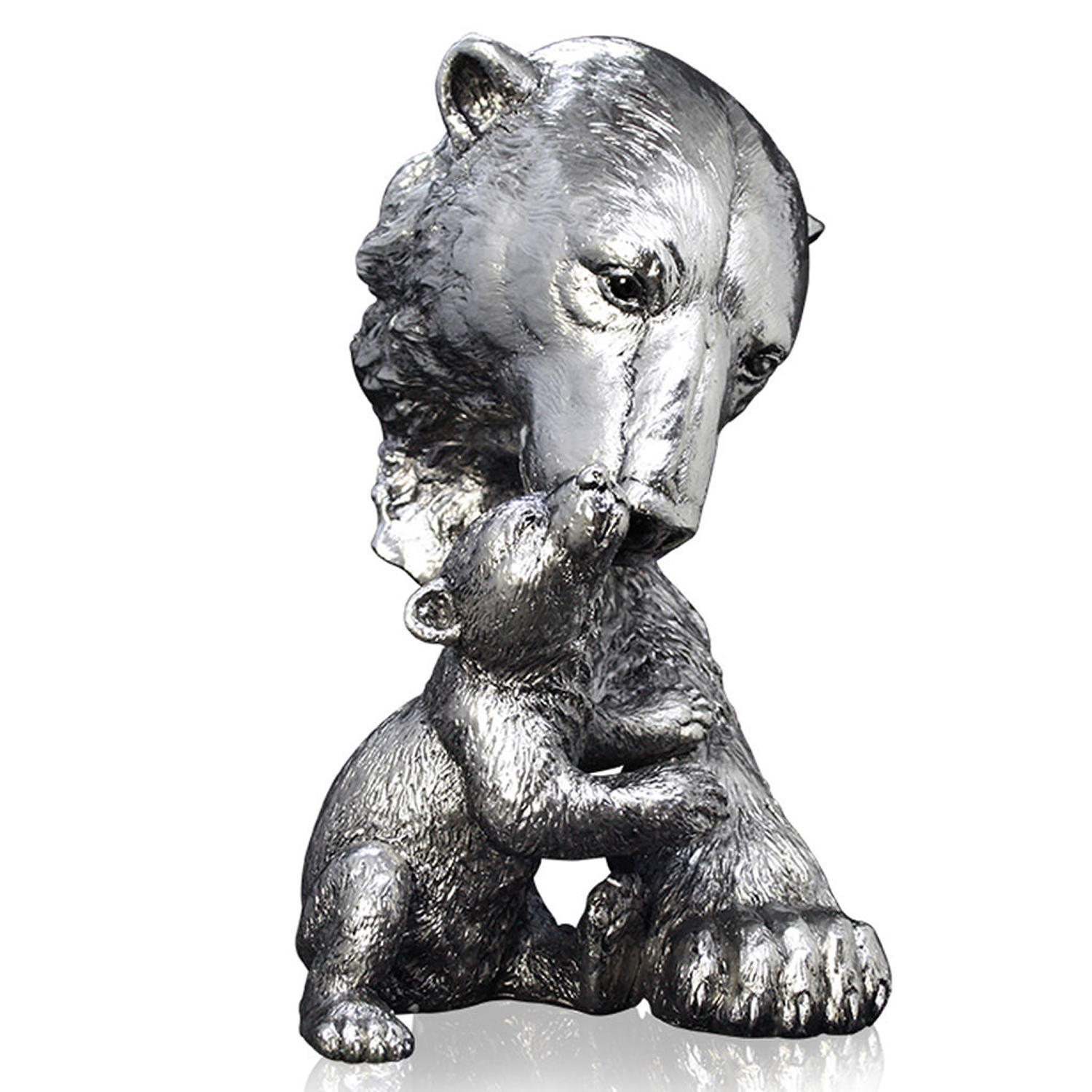 Nickel resin Polar Bear and cub