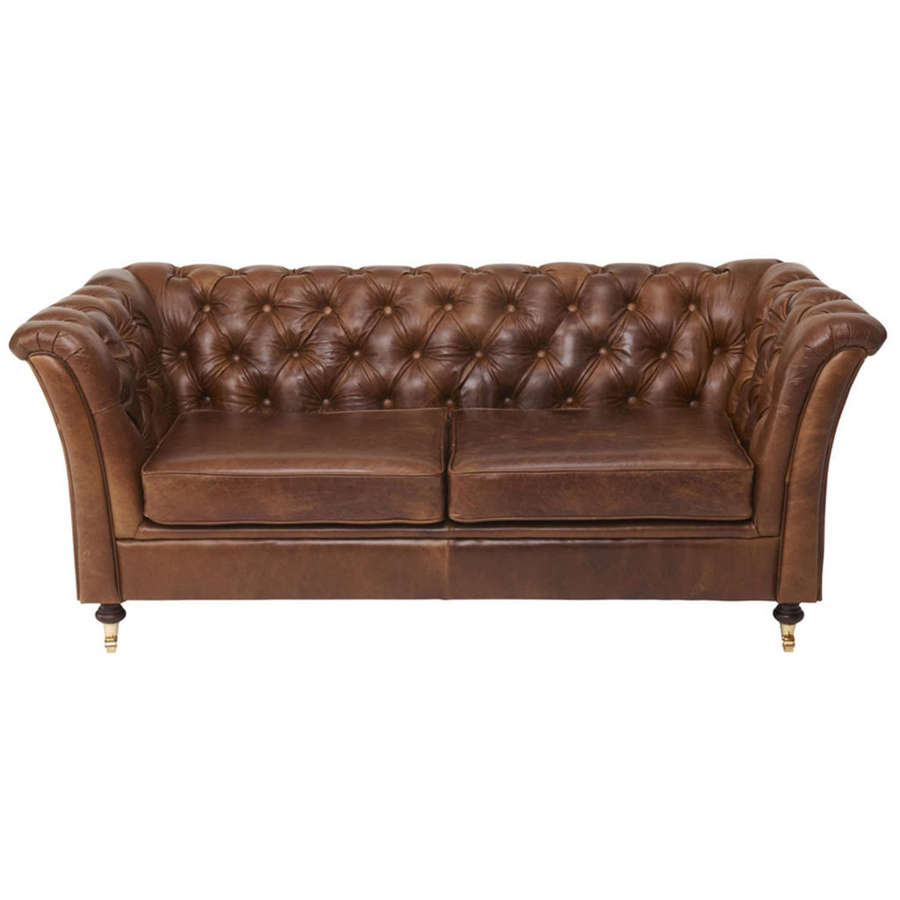 Ceasar two seater sofa in Cerato brown