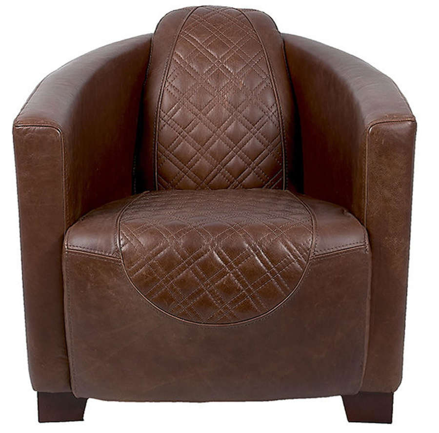 Emperor Armchair in Harris Tweed and Leather