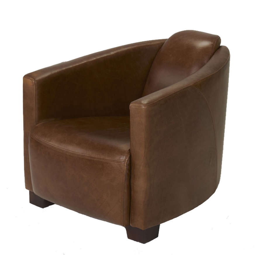 Brando Armchair in Harris Tweed and leather