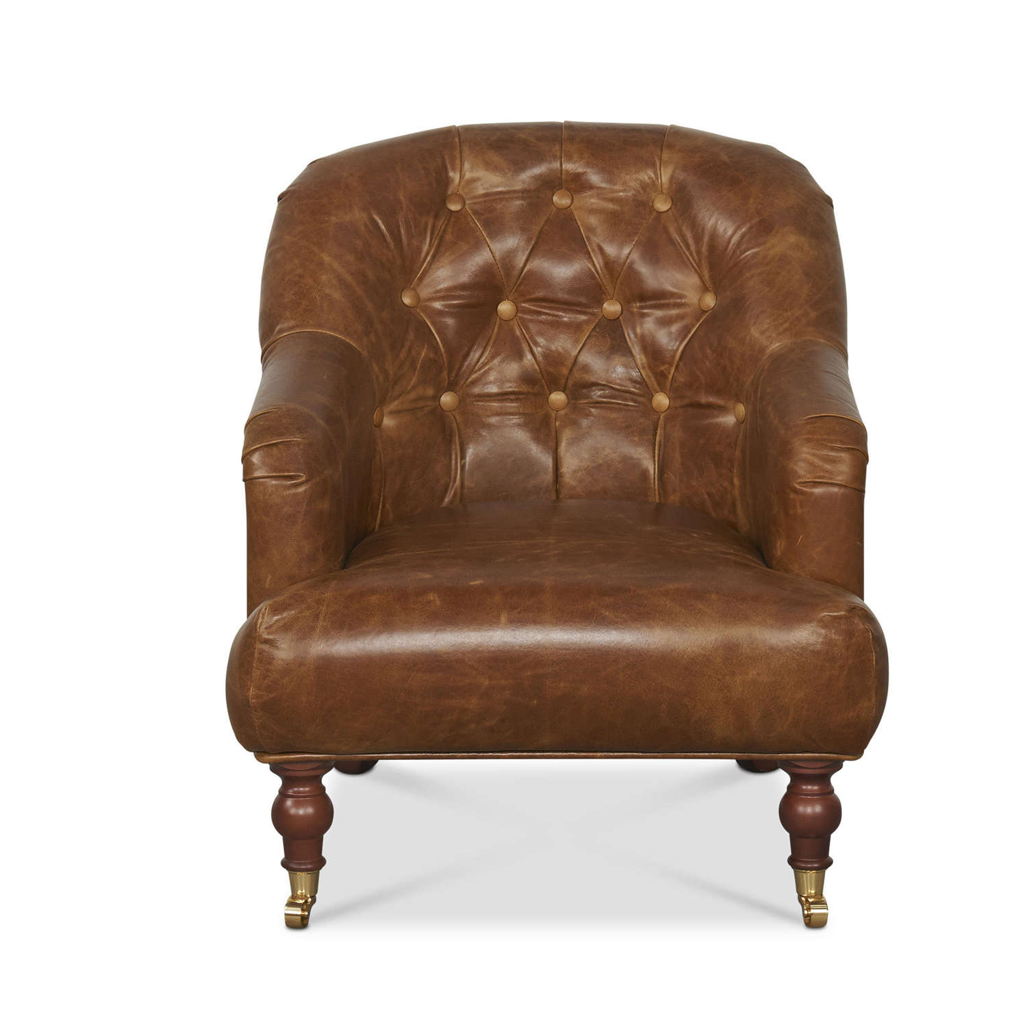 Harris Tweed and Leather Harrington Low Armchair