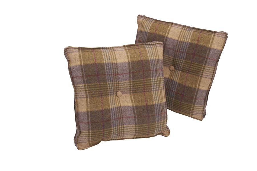 Fabric Button Cushion