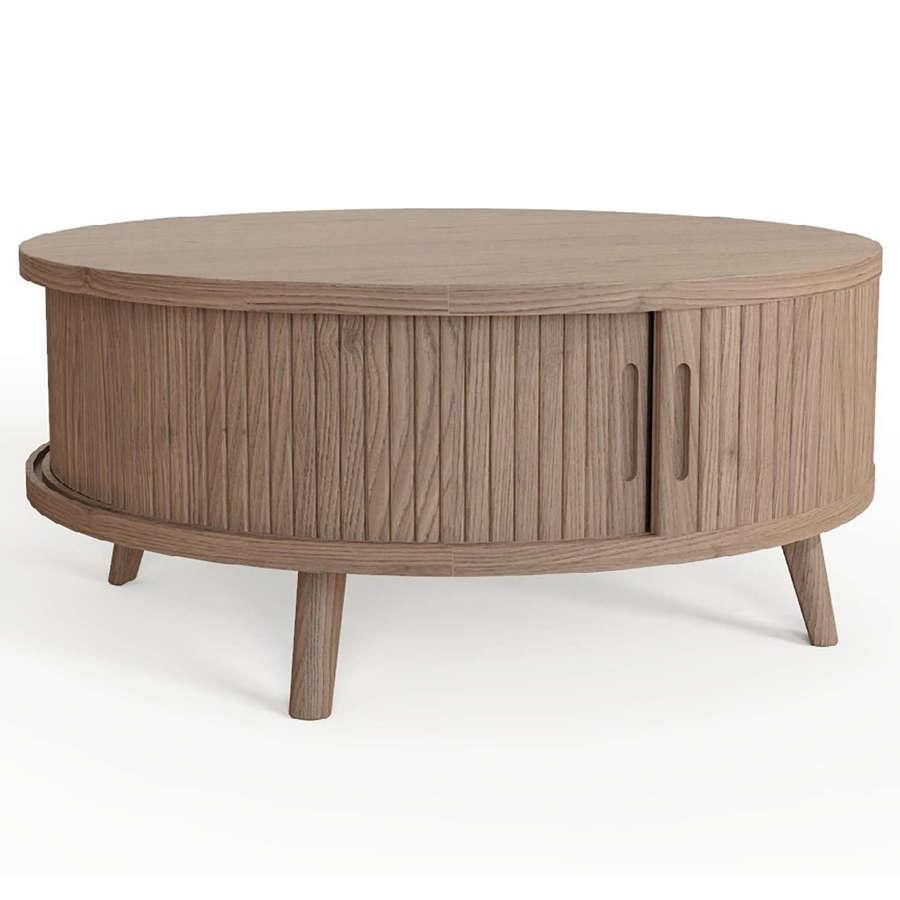 Tambour Grey Coffee Table