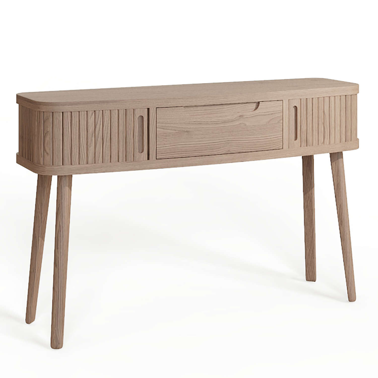 Tambour Grey Console table