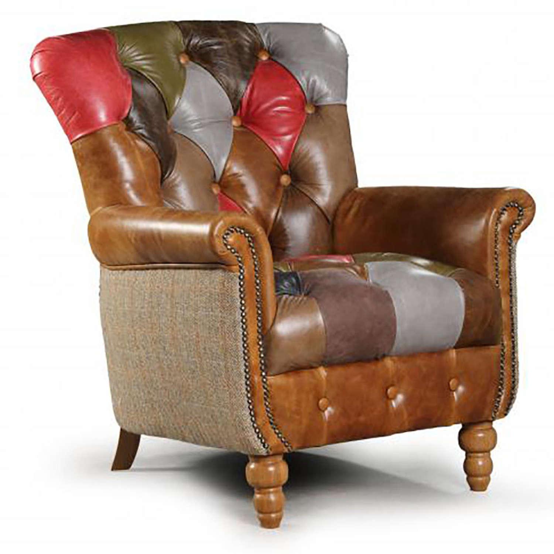 Alderley Leather Patchwork Armchair